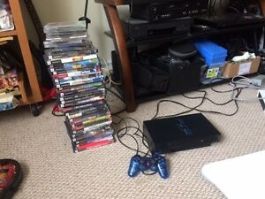 Playstation 2 with games - Pickup only