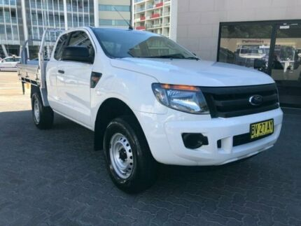 2013 Ford Ranger PX XL 2.2 HI-Rider (4x2) White 6 Speed Automatic Super Cab Chassis North Strathfield Canada Bay Area Preview