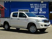 2014 Toyota Hilux KUN26R MY14 SR Double Cab White 5 Speed Automatic Utility Welshpool Canning Area Preview