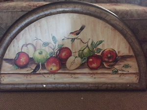 Solid wood fruit painting