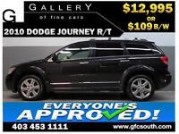 2010 DODGE JOURNEY R/T *EVERYONE APPROVED* $0 DOWN $109/BW!