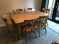 Dining Table & 6 Chairs, Very Good Condition, St Neots 100.00