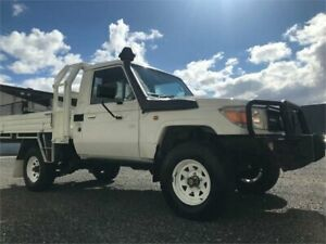 2012 Toyota Landcruiser VDJ79R MY12 Update Workmate (4x4) White 5 Speed Manual Cab Chassis Clayton Monash Area Preview