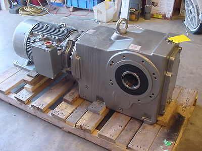 New Nord Gear Reducer 60 Hp 44.631 Ratio Siemens Tefc Motor Output Speed 39 Rpm