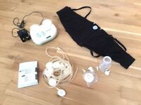 incomplete Ameda double electric breast pump - suction cups missing