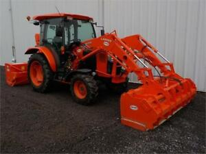 2013 KUBOTA L6060 WITH LOADER EXTENDABLE SNOW PLOW & SNOW BLOWER