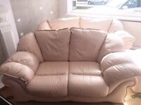 Carnation Pink Pendragon 3+2 sofas with matching foot stool