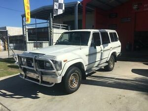1989 Toyota Landcruiser FJ62 GX White Manual Wagon