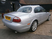 0505 JAGUAR S-TYPE 2.5 V6 SPORT AUTOMATIC LOW MILEAGE 64K FSH SILVER/BLACK LTHR