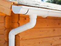 Plastic guttering kit for hipped roof | Available in brown, grey, black, anthracite and white