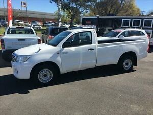 2012 Toyota Hilux GGN15R MY12 SR White 5 Speed Manual Utility Young Young Area Preview