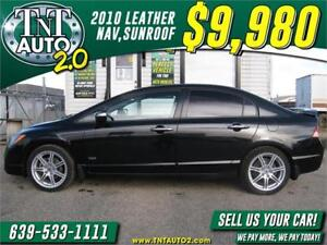 2010 Acura CSX HEATED LEATHER-SUNROOF-AUTO-NAVIGATION! APPLY NOW