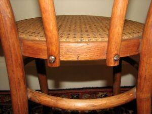 Antique Bentwood Bistro Chair, Woven Cane Seat, Cafe-Style Kitchener / Waterloo Kitchener Area image 9
