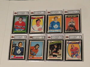 HUGE COLLECTION OF GRADED ROOKIE HOCKEY CARDS