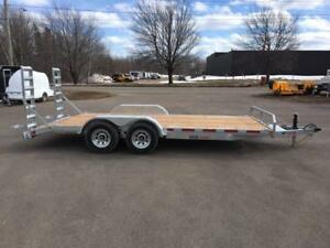 "NEW 2018 K-TRAIL 80"" x 18' GALVANIZED EQUIPMENT TRAILER"