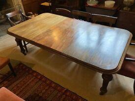 Victorian mahogany dining room table- seats 8