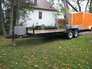 Heavy Duty Flatbed Car Hauler / Utility Trailer