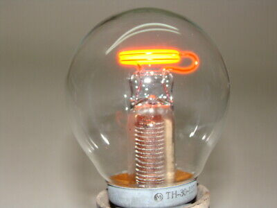 Neon Light Bulb Ussr 110-220v With Built-in Wire Resistor Nixie