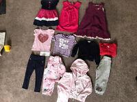 Girls bundle 2-3 (Gap, DKNY, Mothercare, Jacadi, Next) Dresses, sequin Tshirt, hoody (13 items)