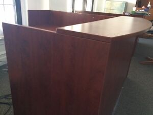 Cherry Wood Finish Reception Desk