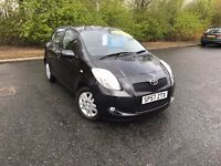 2007 TOYOTA YARIS TR 1.3 BLACK IMMACULATE LOW MILES 36,000 IDEAL FIRST CAR MUST SEE £3750 OLDMELDRUM
