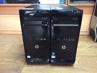 HP Pro 3400 Series MT Pentium dual 2.70GHz 4GB RAM 250 HDD Win 7 OR Win 8