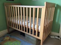 Good quality cot and mattress