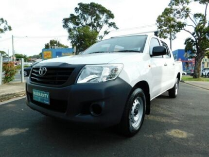 MY14 TOYOTA HILUX WORKMATE DOUBLE CAB UTILITY 5 SPEED MANUAL Five Dock Canada Bay Area Preview