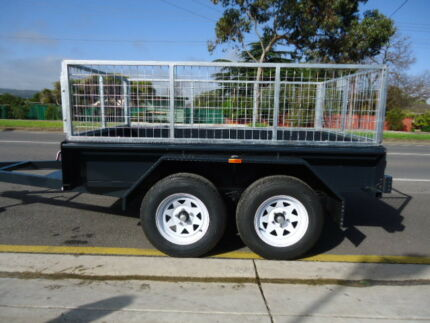 8X5 TANDEM BOX TRAILER CAGE DUAL AXLE BRAKED $2795