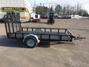"NEW 2017 PJ 77"" x 12' READY-RAIL UTILITY TRAILER"