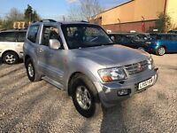 MITSUBISHI SHOGUN 3.2 DI-D Equippe 3dr**ONE PREVIOUS OWNER**SERVICE HISTORY**P/X TO CLEAR**BARGAIN**
