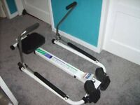 CHALLENGER ROWING EXCERCISE MACHINE AS COMPUTOR ON THE FRONT EXCELLENT CONDITION HARDLY USED