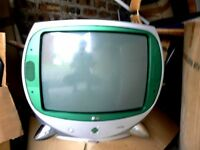 Retro style TV LG works with free-view box or games console