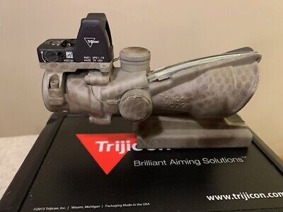 Trijicon ACOG Rifle Scope 4x32 w/ RMR Dual-Illuminated .223 BAC TA31-C-100552