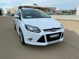 2012 Ford Focus LW MkII Sport PwrShift White 6 Speed Sports Automatic Dual Clutch Hatchback Taminda Tamworth City Preview