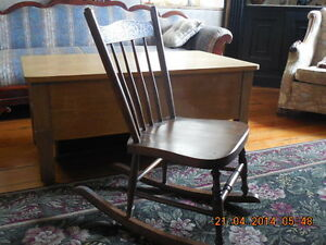 Antique Pressback Rocker Childs