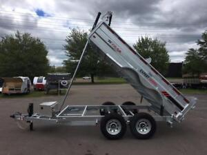 "NEW 2018 K-TRAIL 80"" x 12' GALVANIZED DUMP TRAILER"