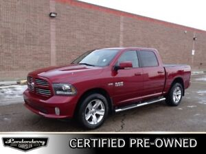 2015 Ram 1500 4WD CREWCAB SPORT Leather,  Heated Seats,  Sunroof
