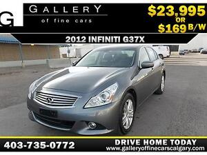 2012 Infiniti G37x AWD $169 bi-weekly APPLY TODAY DRIVE TODAY