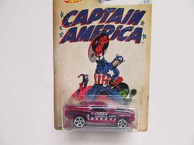 Hot Wheels Walmart - Captain America '70 Ford Mustang Mach I