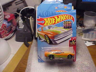 Hot Wheels HW Flames '71 Mustang Funny Car with 2019 Factory Seal Sticker