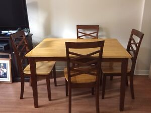 Dining table with four chairs - moving sale