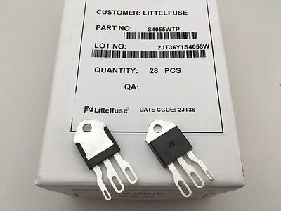 2 Pcs S4055wtp Littelfuse 400v 55a Scr-thyristor To-218