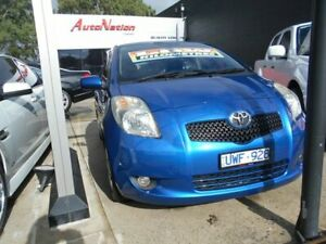 2007 Toyota Yaris NCP90R YR Blue 5 Speed Manual Hatchback Fawkner Moreland Area Preview