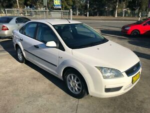 2006 Ford Focus LS CL Sedan 4dr Spts Auto 4sp 2.0i White Sports Automatic Sedan Bass Hill Bankstown Area Preview