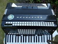 ACCORDION EXCELSIOR LOGOS 90, BELLOWS ARE IN EXCELLENT CONDITION, HARD CASE, NO SHOULDER STRAPS