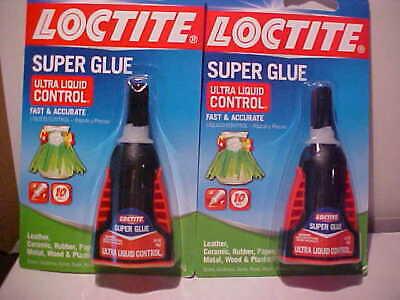 Lot Of 2 Loctite Super Glue Ultra Liquid Control 014oz Leather Metal Rubbermore