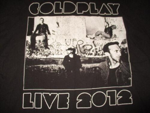 "2012 COLDPLAY ""Live"" Concert Tour (XL) T-Shirt CHRIS MARTIN"