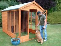 Free kennel to a home with a loving family for dog or pet