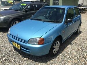 1998 Toyota Starlet EP91R Life Blue 5 Speed Manual Hatchback Jewells Lake Macquarie Area Preview